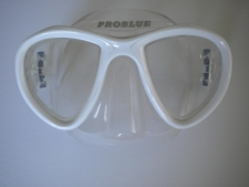 Look Mask White w/Clear Silicone skirt - Product Image