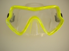Spirit Mask Neon Yellow w/Clear Silicone skirt - Product Image