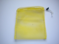 "Mini Drawstring Mesh Bag ""Yellow"" - Product Image"