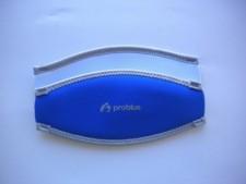 """Neoprene Mask Strap Cover """"Ocean Blue / White"""" - Product Image"""