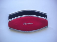 "Neoprene Mask Strap Cover ""Red / Black"" - Product Image"