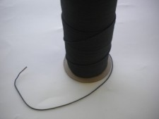 """New Size! 1/16"""" Bungee Shock Cord """"BLACK""""  Commercial Grade - Product Image"""