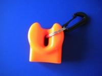 "Orange Mouth Piece Cover Flexible Vinyl  ""Mouthpiece Type"" - Product Image"