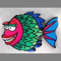 Pink Fish Wall Art - Product Image