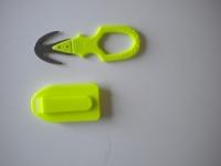 "Piranha Hammerhead Dual Blade Line Cutter ""High Viz Yellow""  W/ Shealth - Product Image"