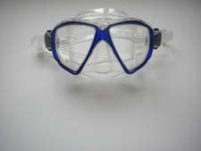 "Piranha Sea Viewer Dive Mask     ""  Frame Trans Blue / Clear Skirt    ""Accepts Lenses"" - Product Image"