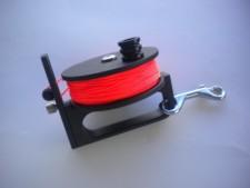 "Piranha Sidewinder Reel 200ft  ""Orange Line"" - Product Image"
