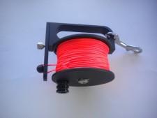 "Piranha Sidewinder Reel 400ft ""Orange Line"" - Product Image"