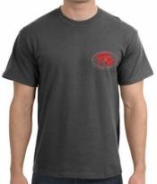 Piranha T-Shirt  Dark Heather T-Shirt w/ Red Logo  - Product Image