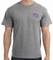 "Piranha T-Shirt  Sport Grey w/ Purple Logo ""  - Product Image"