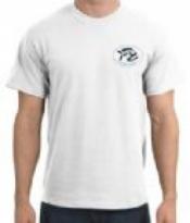 Piranha T-Shirt  White T-Shirt w/ BLACK Logo  - Product Image