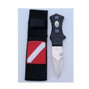 Pointed Tip Knife w/Nylon Webbing Sheath   - Product Image