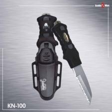 "Scalloped Tip Knife  ""Black Plastic Sheath"" - Product Image"