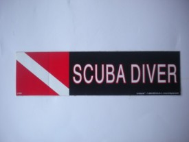 Scuba Diver Decal - Product Image
