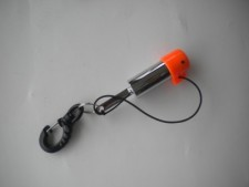 "Tank Rattle w/Magnetic Cap & Delrin gated Clip ""ORANGE"" ""1 Only"" - Product Image"