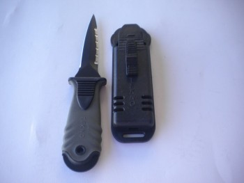 """Tekno Stiletto Pointed Knife w/ Hard Plastic Case """"Grey Handle"""" ***1 Only*** - Product Image"""