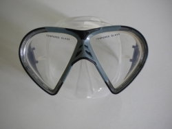 Vista Mask Black w/grey accents Clear Silicone - Product Image