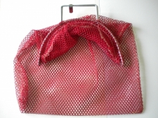 "Wired Handle Mesh Bag Small *RED* ""15"" x 20"" - Product Image"