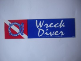 Wreck Diver Decal - Product Image