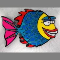 Yellow Fish Wall Art - Product Image