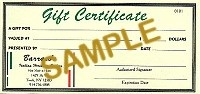 $125.00 Gift Certificate - Product Image