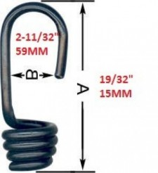 "Bungee Cone Hook 3/16""/5mm  (Plastic Coated Steel) - Product Image"