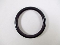 "1 1/2"" Stainless Steel Ring ""Black Powder Coated"" - Product Image"