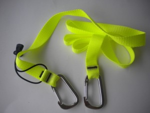 "10ft Jon Line w/ 3"" Carabiners both ends!  ***Yellow Webbing*** ""1 Only!"" - Product Image"