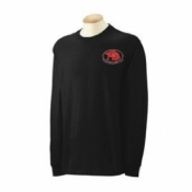 Long Sleeve Black T-Shirt Large - Product Image