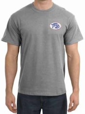"Piranha T-Shirt  Sports Grey T-Shirt w/ Red, White & Blue T-Shirt Logo ""  - Product Image"