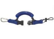 Bungee Lanyard BLUE w/SS Carabiner - Product Image