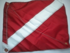 "Nylon Dive Flag w/ Wire Stiffener ""31 inch x 36 inch"" Size XL - Product Image"