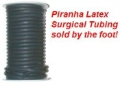 "3/8"" Latex Surgical Tubing BLACK w/ inside Wall 1/16 - Product Image"