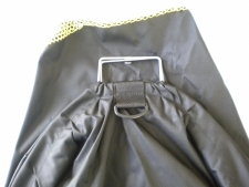 Nylon Catch Bag Black/Yellow w/ D Ring #1  18 x 30 Inches Medium - Product Image
