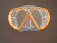 Tiara 2 Mask  Orange w/Clear Silicone Skirt - Product Image