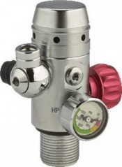 """Dry Suit / Pony Bottle Valve  """"Nitrox Ready / #813A"""" ***Bar Gauge!***1 Only****** - Product Image"""