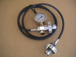 "Braided Hose ONLY Din Cylinder Transfill Whip 60"" inches Long w/ NO gauge! HOSE ONLY!! - Product Image"