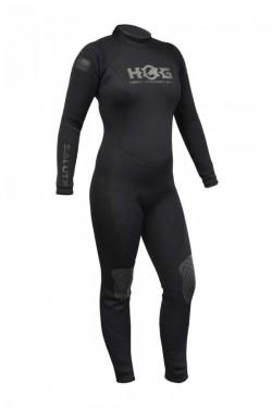Hog 5mm Salute Womens Wetsuit All Black Color Suit - Product Image
