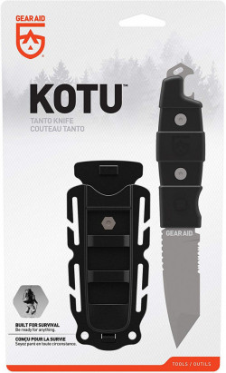 "Gear Aid Kotu Tanto Point Tip Knife ""Black handle / Black Sheath"" - Product Image"