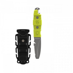 "Gear Aid Akua Blunt Tip Knife ""High Viz GREEN Handle/Shealth"" - Product Image"