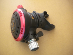 """Piranha Explorer Adjustable """"WMD"""" Extreme Diving 2nd Stage  """"Red Ring / Black Face Plate""""  - Product Image"""