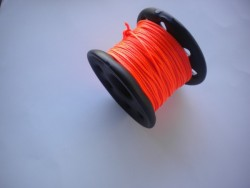 "150ft PVC Coated Stainless Steel Finger Spool w/ Orange Line! ""2 ONLY!"" - Product Image"