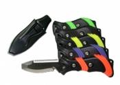 Piranha BC/Hose Blunt Tip Knife Black/Orange Handle - Product Image