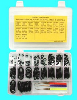 180 Piece Buna / NBR O-Ring Kit w/ Brass Picks - Product Image