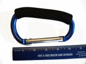 5 1/2 Inch Aluminum Carabineer with Foam Handle in Ocean BLUE - Product Image