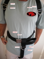 "More Options! & Now Black Hardware! Hogarthian Harness (Dir) for Backplates ""Select Color of Webbing!"" - Product Image"