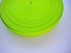 "2 Inch Nylon Webbing High Viz Green ""Stiff Version"" - Product Image"