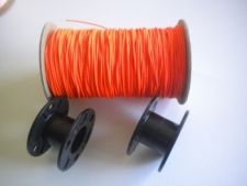 "2 Large hole Molded Bare Spools w/ Piranha Dive Line ""Orange Line"" Combo Set - Product Image"