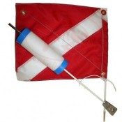 "2 Piece Flag Float ""Cylinder Shape Float"" - Product Image"