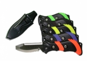 New! Piranha BC/Hose Blunt Tip Knife Black/YELLOW Handle - Product Image
